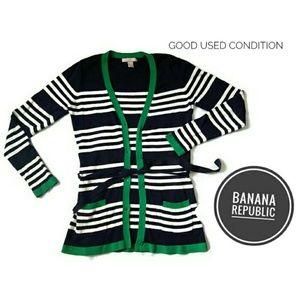 Banana Republic Long Striped Cardigan with Wraps